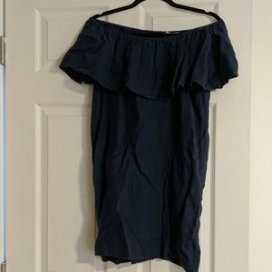 Off-the-Shoulder Linen Dress